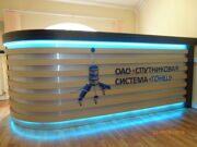 логотип на ресепшн из акрилового стекла 10мм несветовой
